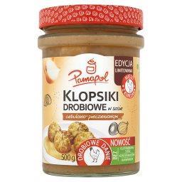 Klopsiki drobiowe w sosie cebulowo-pieczeniowym