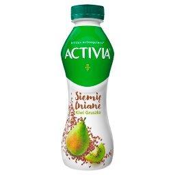 Jogurt siemię lniane gruszka kiwi