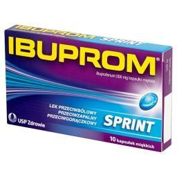 Sprint 200 mg Kapsułki miękkie 10 kapsułek