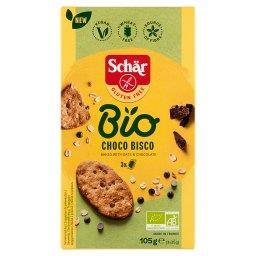 Bio Choco Bisco Bezglutenowe ekologiczne ciastka z owsem i ciemną czekoladą 105 g