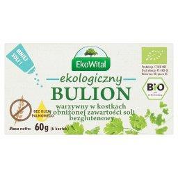 Ekologiczny bulion warzywny w kostkach o obniżonej zawartości soli  (6 sztuk)
