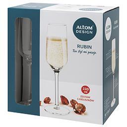 Kieliszki do szampana Rubin 220ml kpl. 6szt