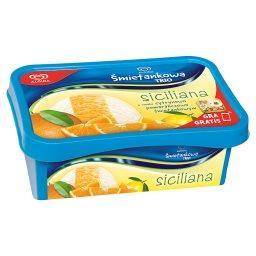 Śmietankowa Trio Siciliana o smaku cytrynowo pomarańczowo śmietankowym Lody