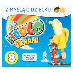 Banani Lody wodne żelowe o smaku bananowym i lody waniliowe 360 ml (8 sztuk)