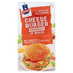 Cheeseburger drobiowy w bułce z ketchupem  (2 x 150 ...