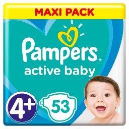 Active Baby Rozmiar 4+, 53 pieluszki, 10-15 kg