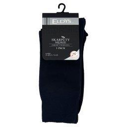 Skarpety męskie gładkie 3 pak rozmiar 41-43 mix kolorów - czarne i szare