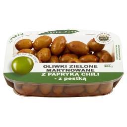 Oliwki zielone marynowane z papryką chili z pestką