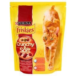 Crunchy & Soft z wołowiną kurczakiem i dodatkiem warzyw Pełnoporcjowa karma dla kotów