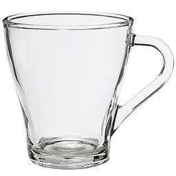 Kubek szklany / szklanka z uchem Roma 270 ml