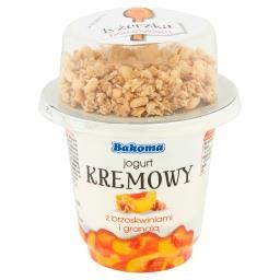 Jogurt kremowy z brzoskwiniami i granolą