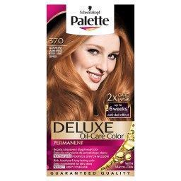 Deluxe Oil-Care Color Farba do włosów Szlachetna jasna miedź 370