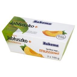 Mus owocowy Jabłuszko + Brzoskwinia 200 g (2 sztuki)