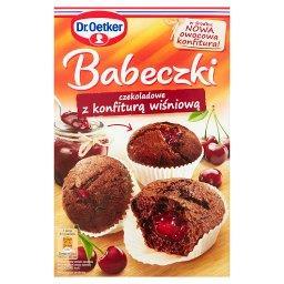 Babeczki czekoladowe z konfiturą wiśniową