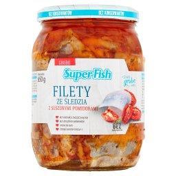 Filety ze śledzia z suszonymi pomidorami