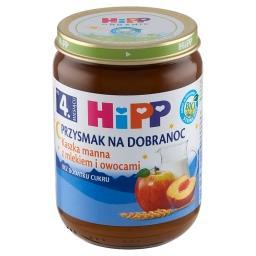 BIO Przysmak na Dobranoc Kaszka manna z mlekiem i owocami po 4. miesiącu