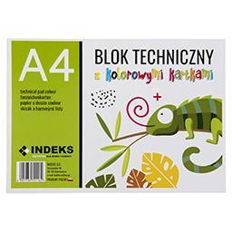 Blok techniczny A4, 8 kartek, kolorowy