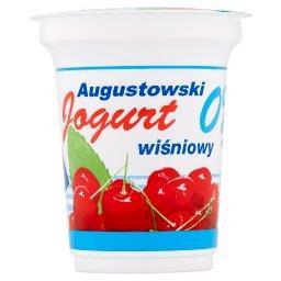 Jogurt Augustowski wiśniowy 0% tłuszczu