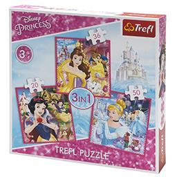 Puzzle 3 w 1 20 x 19,5 cm mix wzorów