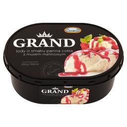 Grand Lody o smaku panna cotta z musem malinowym