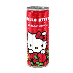 Napój niegazowany hello kitty jabłko-wiśnia, puszka 250 ml