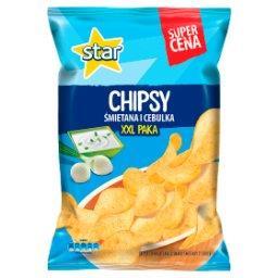 Śmietana i cebulka Chipsy ziemniaczane