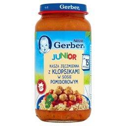Junior Kasza jęczmienna z klopsikami w sosie pomidor...