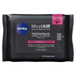 MicellAir Skin Breathe Profesjonalne chusteczki do demakijażu makijaż wodoodporny 20 sztuk