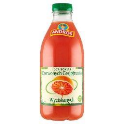 100 % sok z czerwonych grejpfrutów wyciskanych