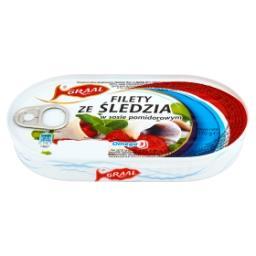 Filety ze śledzia w sosie pomidorowym