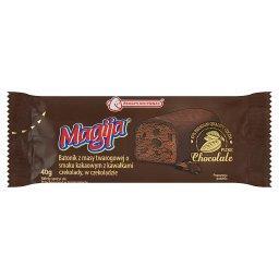 Batonik z masy twarogowej o smaku kakaowym z kawałka...