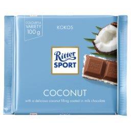 Czekolada mleczna nadziewana kremem mleczno-kokosowy...