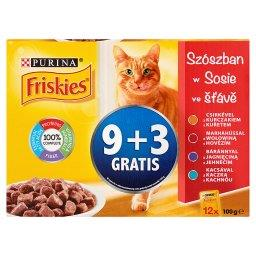 W sosie Pełnoporcjowa karma dla dorosłych kotów 1200 g (12 sztuk)