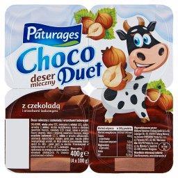 Choco Duet Deser mleczny z czekoladą i orzechami las...