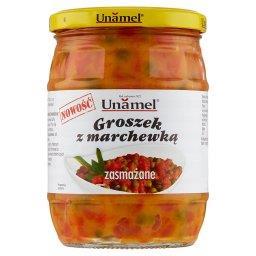 Groszek z marchewką zasmażane