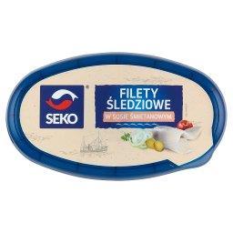 Filety śledziowe w sosie śmietanowym