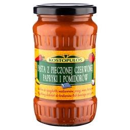 Pasta z pieczonej czerwonej papryki i pomidorów