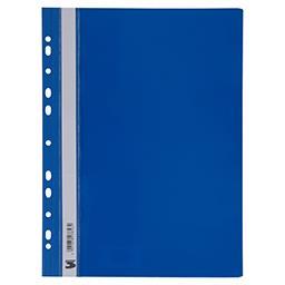 Skoroszyt PCV wpinany A4 niebieski