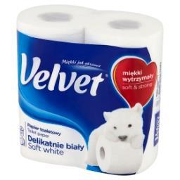 Delikatnie biały Papier toaletowy 4 rolki