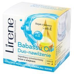 Dermoprogram Babassu Oil Duo-nawilżenie Łagodzący emolientowy krem z olejkiem
