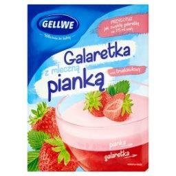 Galaretka z mleczną pianką smak truskawkowy