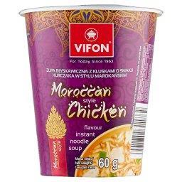 Zupa z kluskami o smaku kurczaka w stylu marokańskim