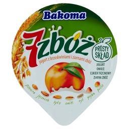 7 zbóż Jogurt z brzoskwiniami i ziarnami zbóż