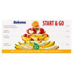 Start & Go Mus owocowo-warzywny banan-mango-jabłko-pomarańcza 200 g