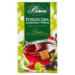 Premium Herbatka owocowa porzeczka z agrestem i wiśn...