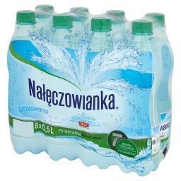 Naturalna woda mineralna gazowana 8 x 0,5 l