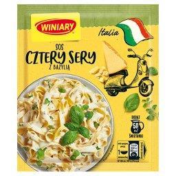Italia Sos cztery sery z bazylią