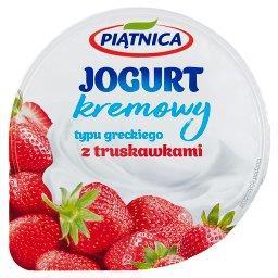 Jogurt kremowy typu greckiego z truskawkami