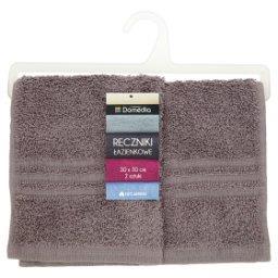 Ręczniki łazienkowe 30 cm x 30 cm szare 2 sztuki
