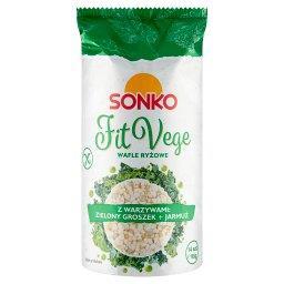 Fit Vege Wafle ryżowe z warzywami zielony groszek + ...